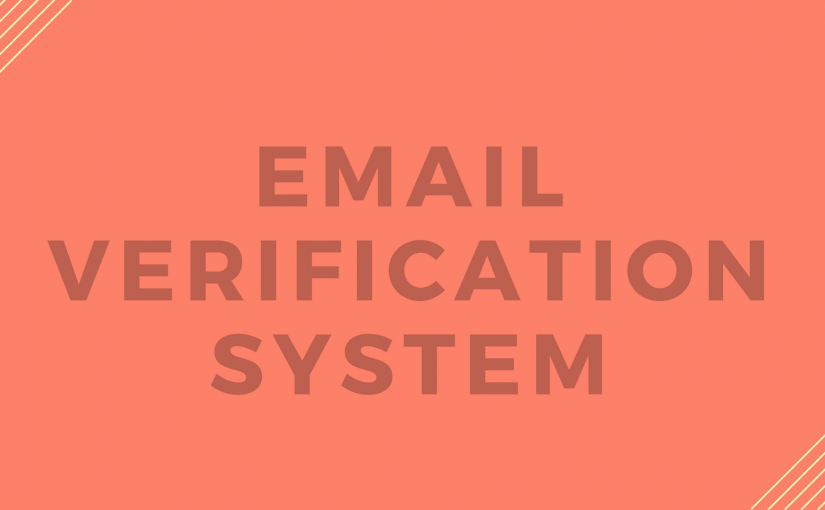 Email Verification System Released