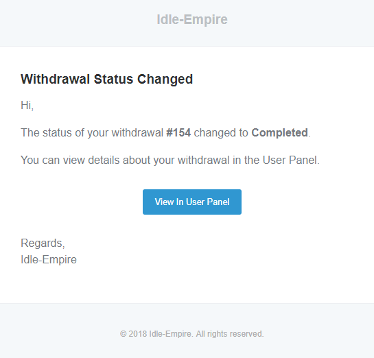 Withdrawal Status Changed